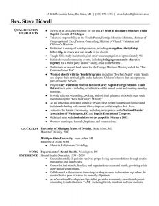 Pastor Resume Template Free - Youth Pastor Resume Awesome Pastor Resume Template Free Unique