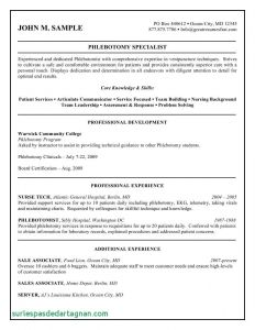 Phlebotomist Resume Template - Phlebotomy Cover Letter Template Samples
