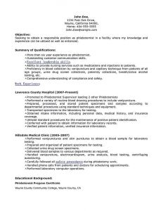 Phlebotomy Resume Template - Phlebotomy Resume Includes Skills Experience Educational