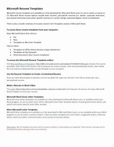 Plain Text Resume Template - Free Resume Templates Word Luxury Elegant Microsoft Word Resume