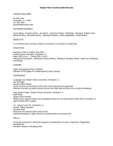 Plain Text Resume Template - Plain Text format Resume Best Rich Text format Resume Template at