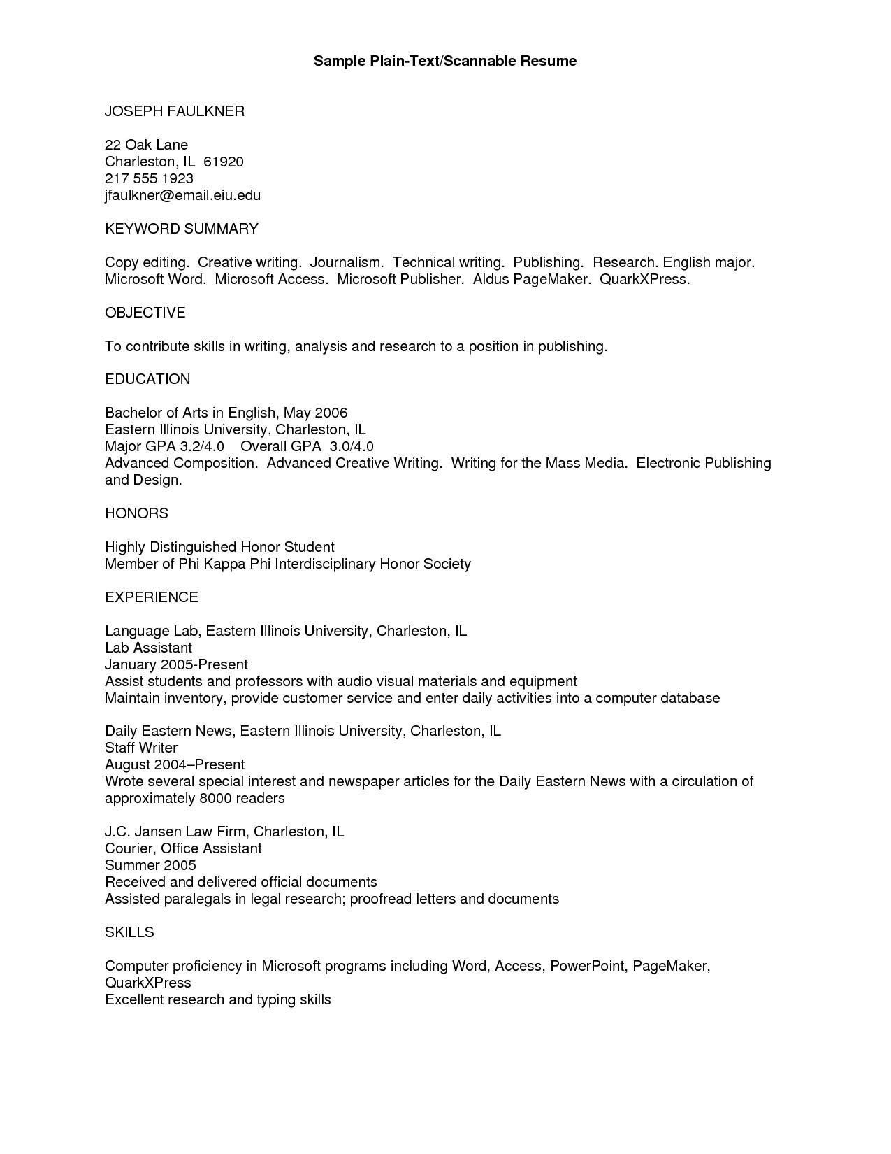plain text resume template example-Plain Text Format Resume Best Rich Text Format Resume Template At Resume Sample Ideas 16-m
