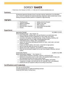 Plumber Resume Template - Pipefitter Resume Template New Plumber Resume Example Eco Zenfo