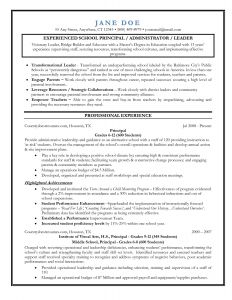 Principal Resume Template - assistant Principal Resume Best College Application Resume