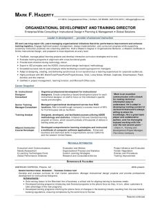 Program Manager Resume Template - Mark F Hagerty Od Training Director Resume by Mfhagerty Via