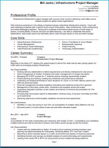 Program Manager Resume Template - Project Manager Cv Example Cv Template and Writing Guide