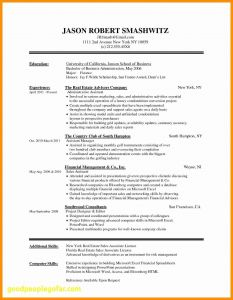 Property Management Resume Template - 16 Fresh Free Resume Templates Microsoft