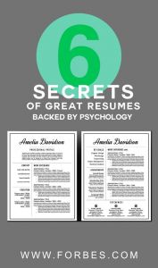 Psychology Resume Template - 6 Secrets Of Great Resumes Backed by Psychology