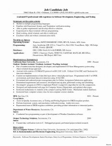 Quality assurance Resume Template - software Engineer Resume astonishing Programmer Resume Template