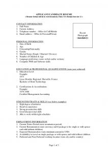 Receptionist Resume Template - Resume Template Job Sample Wordpad Free Regarding Word format
