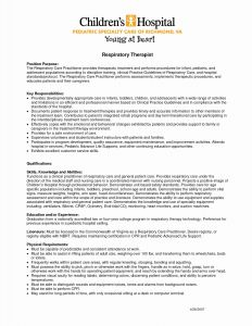 Respiratory therapist Resume Template - Respiratory therapist Resume Objective Examples Reference Sample
