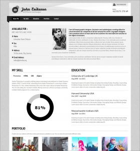 Responsive Resume Template - 7 Creative Line Cv Resume Template for Web Graphic Designer