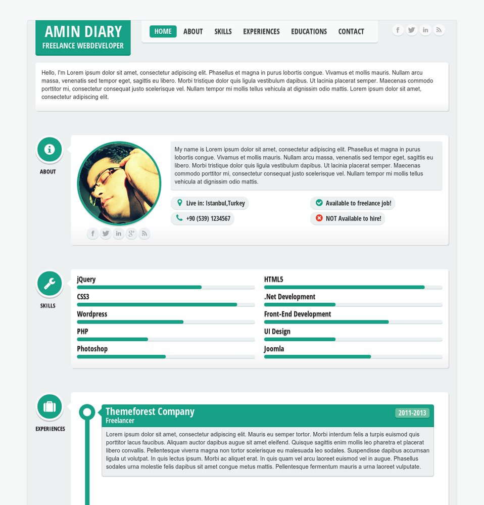 responsive resume template Collection-ment on this theme 10-h