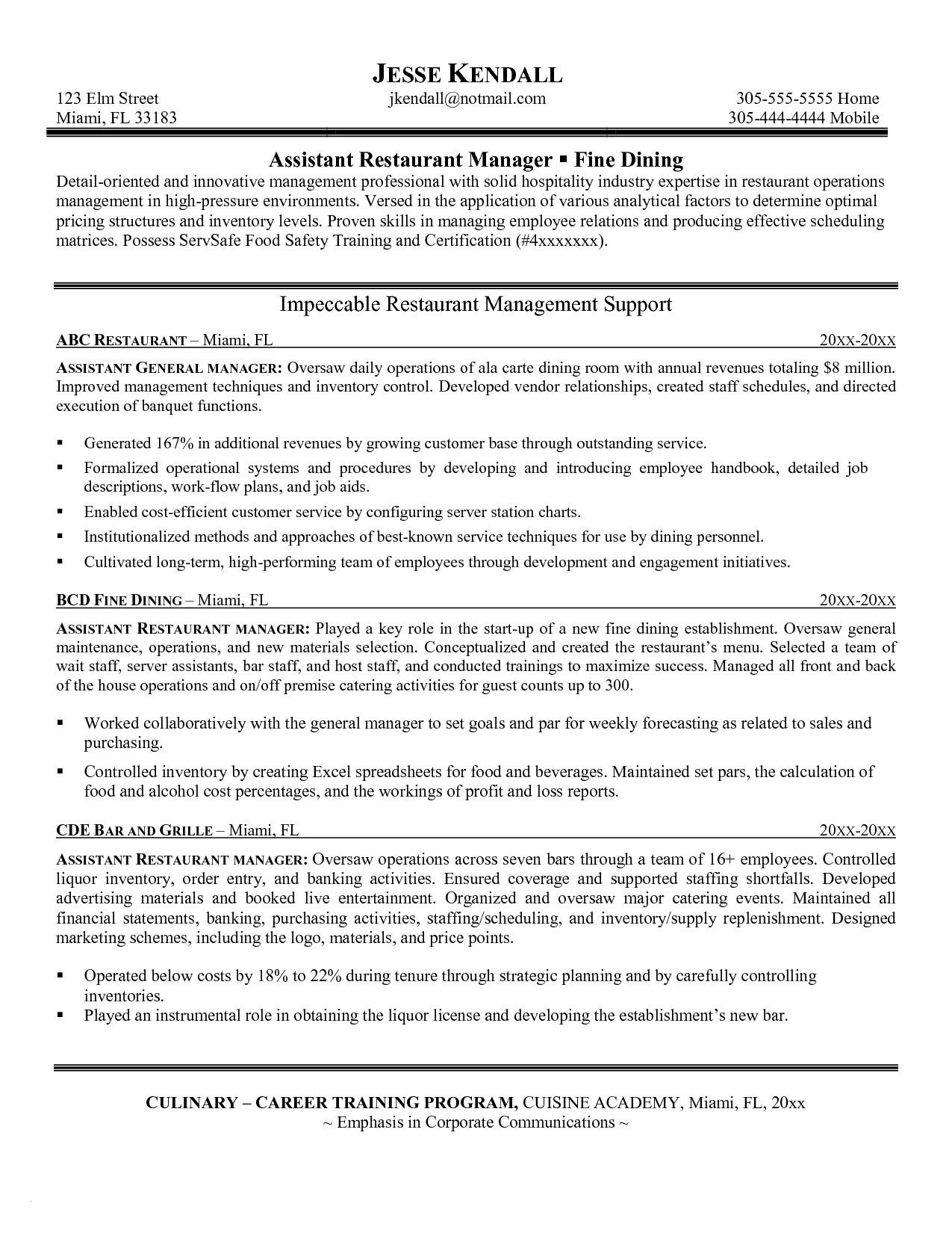 restaurant manager resume template Collection-Restaurant Manager Resume Template Unique Lovely Grapher Resume Sample Beautiful Resume Quotes 0d assistant 16-c