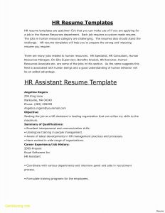 Resume Template Chronological - Chronological Resume format Template Inspirational Free Resume