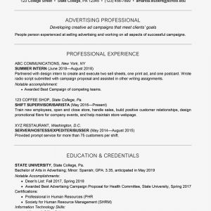 Resume Template College Freshman - College Student Resume Example
