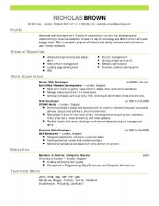 Resume Template Computer Science - 46 Design Resume Word Templates