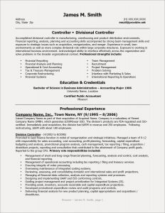 Resume Template Finance - Finance Resume Template Fresh Cfo Resume Template Inspirational