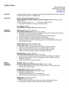 Resume Template for 16 Year Old - Art Teacher Resume Examples