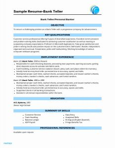 Resume Template for Bank Teller - Bank Teller Resume Examples Example Bank Teller Resume Resume