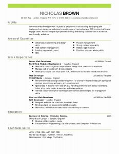 Resume Template for Computer Science - Talent Resume Example New Actor Resume Template New Best Actor