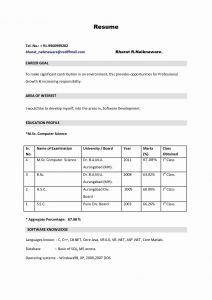 Resume Template for Computer Science - 25 Best Puter Science Resume