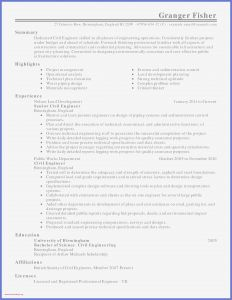 Resume Template for Construction - Municipal Engineer Sample Resume