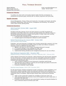 Resume Template for Construction Project Manager - Project Manager Resume Sample Luxury Product Manager Resume Template