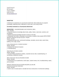 Resume Template for Electrician - 40 Unbelievable Resume for Electrician
