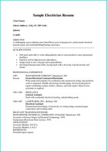 Resume Template for Electrician - Apprentice Electrician Resume Awesome Electrician Job Description