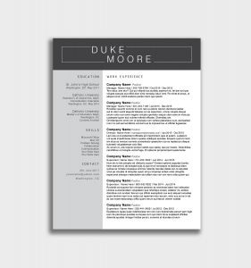 Resume Template for Engineers - Mechanical Engineering Resume Templates