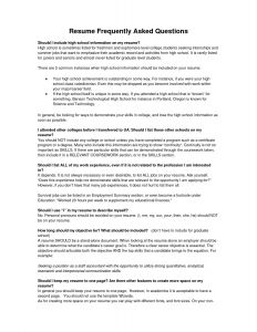 Resume Template for Freshman College Student - High School Resume Sample Beautiful Unique Resume for Highschool