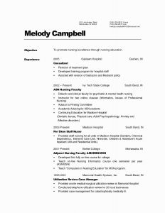 Resume Template for Graduate Students - Resume Templates for Nursing Graduates Resume Resume Examples