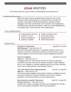 Resume Template for Maintenance Position - 30 Job Resume Template Download