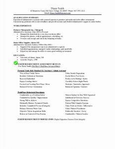 Resume Template for Office assistant - New Resume Samples for Administrative assistant