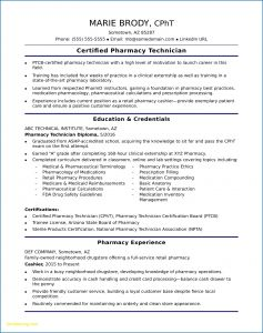 Resume Template for Pharmacy Technician - Download Luxury Pharmacy Tech Resume