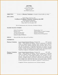 Resume Template for Pharmacy Technician - Technician Resume Examples New Pharmacy Tech Resume Elegant Pharmacy