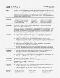 Resume Template for Police Officer - Law Enforcement Investigator Cover Letter Fresh Law Enforcement