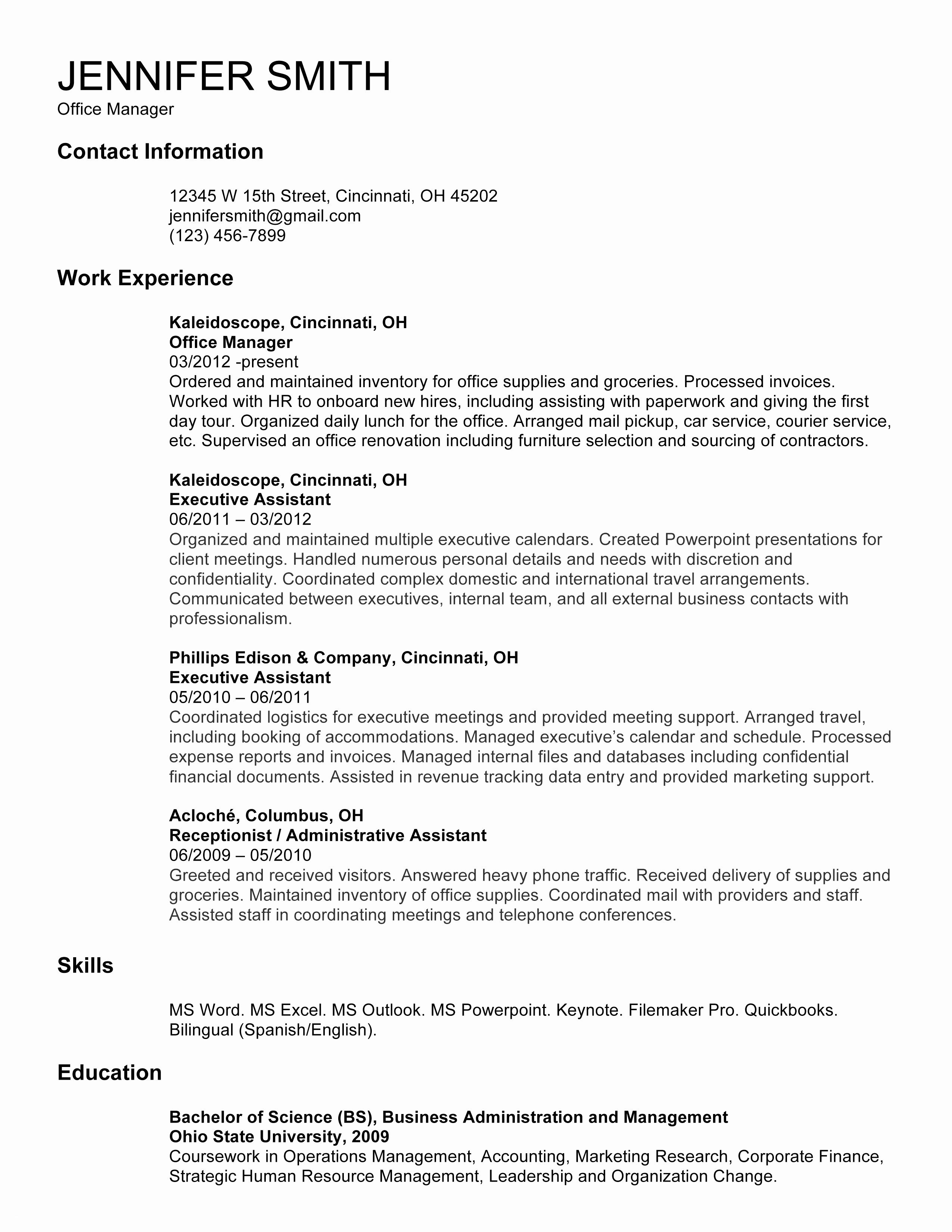 resume template for receptionist example-How To Make A Resume For A Receptionist Job Valid Fresh Reception Resume Luxury American Sample New Student 0d Where 3-o