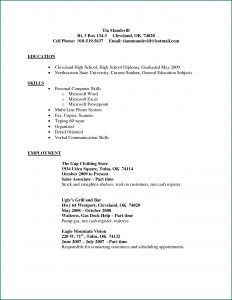 Resume Template for Sales associate - Resume Template for Retail Sales associate Simple Experience