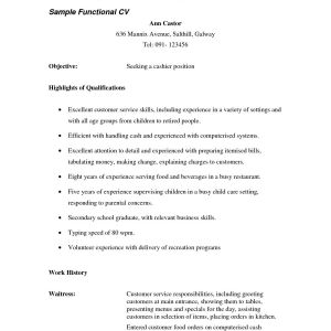 Resume Template for Waitress - Waitress Resume Responsibilities Magnificent Waitress Resume