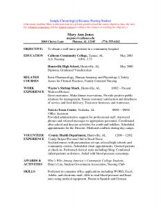 Resume Template Nursing Student - Nursing Student Resume Clinical Experience Example Nursing