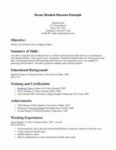 Resume Template Nursing Student - Student Resume Examples Best Rn Resume Sample Unique Writing A