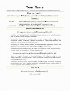 Resume Template Receptionist - Career Management Resume Services Beautiful Career Focus Resume New