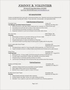 Resume Template with Volunteer Experience - Resume Template Copy and Save Activities Resume Template Valid Job