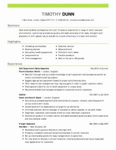 Retail Management Resume Template - 2018 Resume for Retail Management Position Vcuregistry