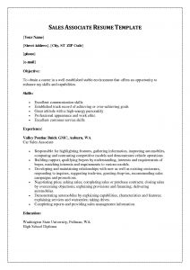 Retail Sales associate Resume Template - Resume for Sales associate Unique Sample Resume for Sales associate