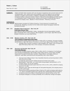Retail Sales Resume Template - Resume for Internal Promotion Template Sample Pdf Beautiful American