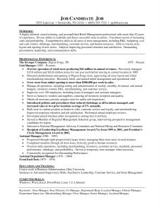 Retail Store Manager Resume Template - Sample Resume for Store Manager Position New Retail Supervisor