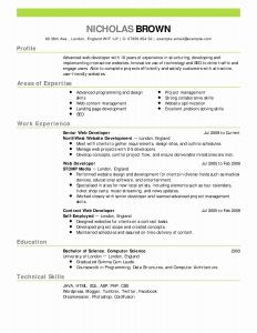 Reverse Chronological Resume Template Word - Reverse Chronological Resume Template Inspirational Chronological